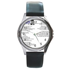 Kennedy Poem Round Metal Watch by athenastemple