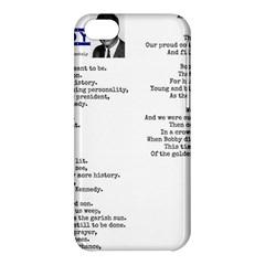 Kennedy Poem Apple Iphone 5c Hardshell Case by athenastemple
