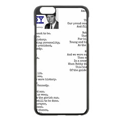 Kennedy Poem Apple Iphone 6 Plus/6s Plus Black Enamel Case by athenastemple
