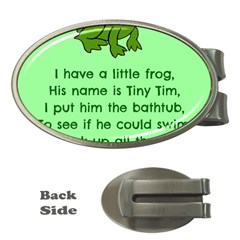 Little Frog Poem Money Clips (oval)  by athenastemple