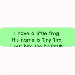 Little Frog Poem Large Bar Mats by athenastemple