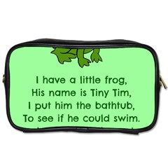 Little Frog Poem Toiletries Bags by athenastemple