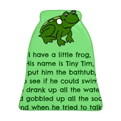 Little Frog Poem Bell Ornament (two Sides) by athenastemple