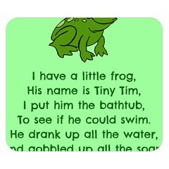 Little Frog Poem Double Sided Flano Blanket (small)  by athenastemple