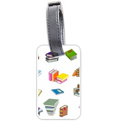 Bookworm Pattern Luggage Tags (one Side)  by athenastemple