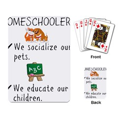 Homeschoolers Socialize Playing Card by athenastemple