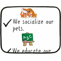Homeschoolers Socialize Double Sided Fleece Blanket (mini)  by athenastemple