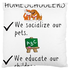 Homeschoolers Socialize Large Cushion Case (two Sides) by athenastemple