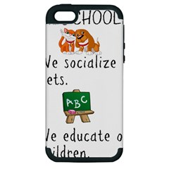 Homeschoolers Socialize Apple Iphone 5 Hardshell Case (pc+silicone) by athenastemple