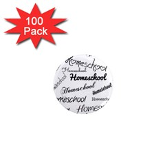 Homeschool 1  Mini Magnets (100 Pack)  by athenastemple