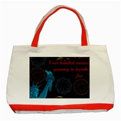 Huddledmasses Classic Tote Bag (red) by athenastemple