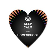 Keepcalmhomeschool Heart Magnet by athenastemple