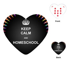 Keepcalmhomeschool Playing Cards (heart)  by athenastemple