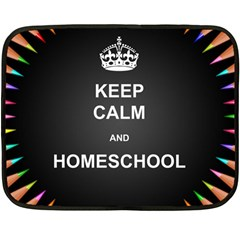 Keepcalmhomeschool Double Sided Fleece Blanket (mini)  by athenastemple
