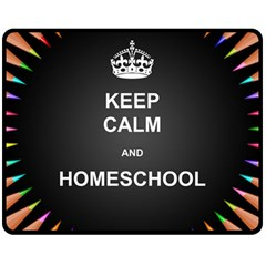 Keepcalmhomeschool Fleece Blanket (medium)  by athenastemple