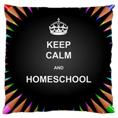 Keepcalmhomeschool Large Cushion Case (two Sides) by athenastemple