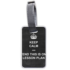 Lessonplan Luggage Tags (one Side)  by athenastemple