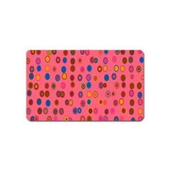 Circles Abstract Circle Colors Magnet (name Card) by Nexatart