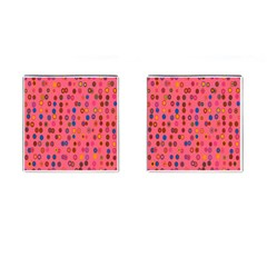 Circles Abstract Circle Colors Cufflinks (square) by Nexatart