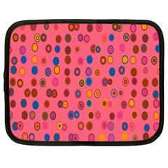 Circles Abstract Circle Colors Netbook Case (xl)  by Nexatart