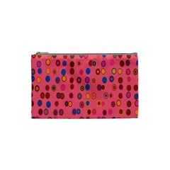Circles Abstract Circle Colors Cosmetic Bag (small)  by Nexatart