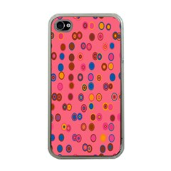 Circles Abstract Circle Colors Apple iPhone 4 Case (Clear)