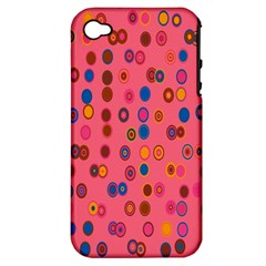 Circles Abstract Circle Colors Apple Iphone 4/4s Hardshell Case (pc+silicone)