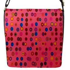 Circles Abstract Circle Colors Flap Messenger Bag (s) by Nexatart
