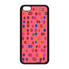 Circles Abstract Circle Colors Apple Iphone 5c Seamless Case (black)