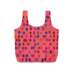 Circles Abstract Circle Colors Full Print Recycle Bags (s)