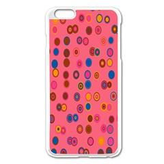 Circles Abstract Circle Colors Apple Iphone 6 Plus/6s Plus Enamel White Case