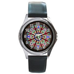 Church Window Window Rosette Round Metal Watch