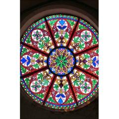 Church Window Window Rosette 5 5  X 8 5  Notebooks by Nexatart