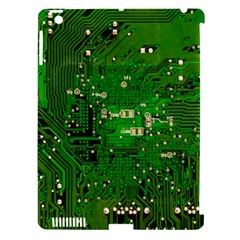 Circuit Board Apple Ipad 3/4 Hardshell Case (compatible With Smart Cover)