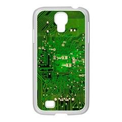 Circuit Board Samsung Galaxy S4 I9500/ I9505 Case (white) by Nexatart