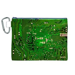 Circuit Board Canvas Cosmetic Bag (xl) by Nexatart