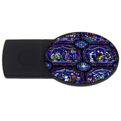 Church Window Canterbury Usb Flash Drive Oval (2 Gb) by Nexatart