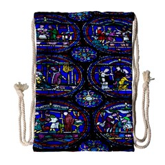 Church Window Canterbury Drawstring Bag (large) by Nexatart