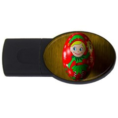 Christmas Wreath Ball Decoration Usb Flash Drive Oval (2 Gb) by Nexatart