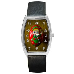 Christmas Wreath Ball Decoration Barrel Style Metal Watch