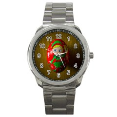 Christmas Wreath Ball Decoration Sport Metal Watch