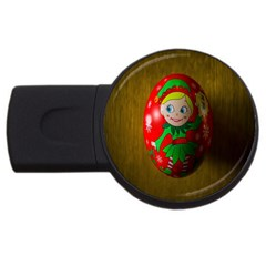 Christmas Wreath Ball Decoration Usb Flash Drive Round (4 Gb) by Nexatart