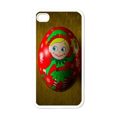 Christmas Wreath Ball Decoration Apple Iphone 4 Case (white) by Nexatart