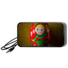 Christmas Wreath Ball Decoration Portable Speaker (black)