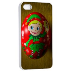Christmas Wreath Ball Decoration Apple Iphone 4/4s Seamless Case (white)