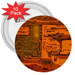 Circuit 3  Buttons (10 pack)  by Nexatart