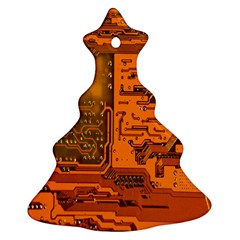 Circuit Christmas Tree Ornament (two Sides) by Nexatart