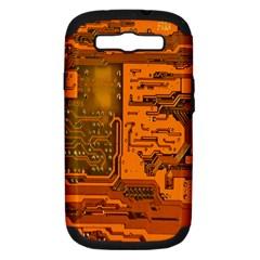 Circuit Samsung Galaxy S Iii Hardshell Case (pc+silicone) by Nexatart