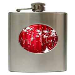 City Nicholas Reindeer View Hip Flask (6 Oz) by Nexatart
