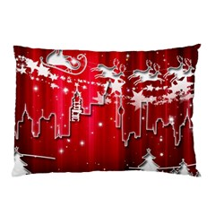 City Nicholas Reindeer View Pillow Case (two Sides)